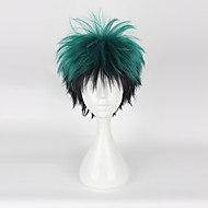 Cosplay Parykker Min Hero Academy Battle For All / boku ingen Hero Academia Midoriya Izuku Anime Cosplay Parykker 35CM CM Varmeresistent