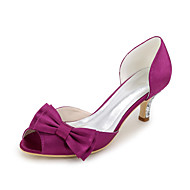 お買い得  特別セール-女性用 靴 シルク 春 / 夏 ヒール スティレットヒール オープントゥ / ピープトウ リボン ブルー / ライトブラウン / クリスタル / 結婚式 / パーティー