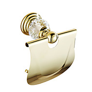 cheap Gold Series-Toilet Paper Holder Contemporary Brass Crystal 1 pc - Hotel bath