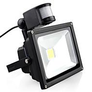 tanie Naświetlacze-1szt 20 W Reflektory LED Czujnik podczerwieni / Monitor detekcji ruchu Ciepła biel / Zimna biel 85-265 V Oświetlenie zwenętrzne / Dziedziniec / Ogród