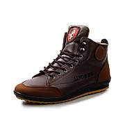 baratos Sapatos Masculinos-Homens Couro Ecológico Primavera / Outono Conforto Oxfords Caminhada Antiderrapante Azul / Castanho Claro / Castanho Escuro