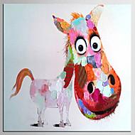 Hang-Painted Oliemaleri Hånd malede - Popkunst Klassisk Moderne Lærred