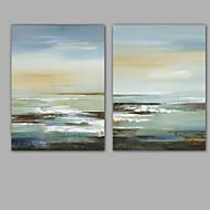billiga Abstrakta målningar-Hang målad oljemålning HANDMÅLAD - Abstrakt Klassisk Moderna Inkludera innerram / Sträckt kanfas