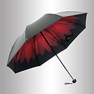 Punainen / Musta Taitettava sateenvarjo Auringonvarjo Plastic Rattaat