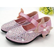 Girls' Flats Comfort PU Casual Comfort Gold Silver Blue Blushing Pink Flat