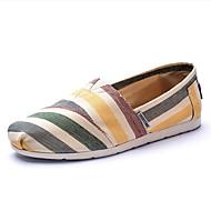 baratos Sapatos Femininos-Mulheres Sapatos Lona Primavera / Verão / Outono Conforto Sem Salto # 7 / # 8 / Coral