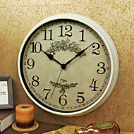 cheap -Vintage Wall Clock Round Shape Plastic Case 15 inch Indoor Clock