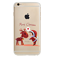 Uyumluluk iPhone X iPhone 8 iPhone 8 Plus iPhone 7 iPhone 6 iPhone 5 Kılıf Kılıflar Kapaklar Temalı Arka Kılıf Pouzdro Noel Yumuşak TPU