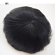 6*8 Brazilian Human Hair Toupees For Men Toppers Hair Men's Hair Systems Replacement Fine Mono Toupee For Men