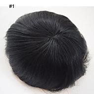 erkekler için yonca saç erkek saç sistemleri yedek ince mono peruk erkekler için 6 * 8 Brezilyalı insan saçı toupees