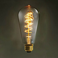 e27 ST64 wire around 60w 220V-240V edison Retro decorative light bulbs