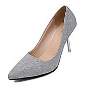 cheap Women's Heels-Women's Heels Fall Winter Comfort PU Casual Low Heel Silver Gold