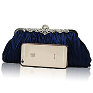 Women Bags All Seasons Satin Evening Bag Ruffles for Wedding Event/Party Formal Peach Navy Blue Red Pink Royal Blue