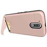 billiga Mobil cases & Skärmskydd-fodral Till Motorola Korthållare / med stativ Skal Enfärgad Hårt PC för Moto G4 Plus / MOTO G4