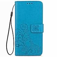 billiga Mobil cases & Skärmskydd-fodral Till Asus ZenFone Max ZC550KL / Asus Zenfone 2 Laser ZE550KL / Asus Plånbok / Korthållare / med stativ Fodral Blomma Hårt PU läder för Asus Zenfone 3 ZE520KL (5,2) / Asus ZenFone 3