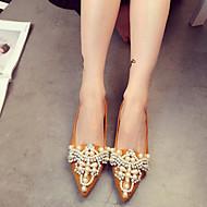 baratos Sapatos Femininos-Mulheres Sapatos Couro Ecológico Outono / Inverno Bailarina Rasos Amarelo / Vermelho / Rosa claro