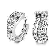 Dámské Peckové náušnice Náušnice - Kruhy Křišťál bižuterie Postříbřené Šperky Pro Svatební Párty Denní Ležérní
