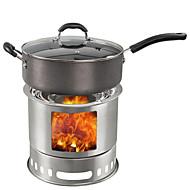 baratos Material de Cozinha para Campismo-Fogão Portátil para Acampamento Fogareiro para Acampamento Conjuntos A Prova de Vento Alumínio para Exterior