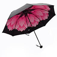 Punainen Taitettava sateenvarjo Auringonvarjo Plastic Rattaat