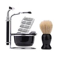 billiga Sminktillbehör-Manuell Rakning Ansikte Mustascher och skägg Manual Rakning tillbehör N/A Våt och torr rakning Rostfritt stål