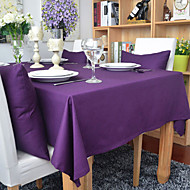 Rectangular Solid Table Cloth , 100% Cotton Material Home Decoration Hotel Dining Table Table Decoration Dinner Decor