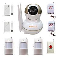 billiga Sensorer och larm-wifi inbrottslarm hemlarm IP-kamera säkerhetssystem för hus anti tjuv videoövervakning med trådlösa Alarme detektorer