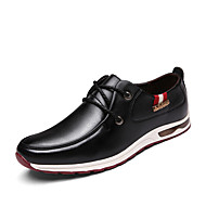 cheap -Men's Shoes PU Fall Winter Comfort Oxfords Black Blue Dark Brown