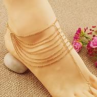 נשים תכשיט לקרסול/צמידים סגסוגת אופנתי ארופאי שכבות מרובות תכשיטים עבור חתונה Party יומי קזו'אל