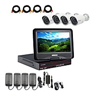 cheap DVR Kits-Strongshine® AHD Camera with 960P/Infrared/Waterproof and 4CH AHD DVR with 10.1 Inch LCD Combo Kits