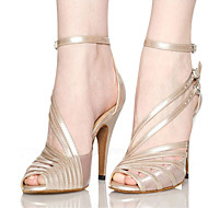 tanie Small Size Shoes-Damskie Buty do latino / Buty do jazzu / Adidasy do tańca Satyna / Derma Adidasy Gruby obcas Personlaizowane Buty do tańca Black / Nude