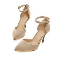 Damă Tocuri Primăvară Vară Toamnă Confortabili Pantofi pe Gleznă Lână Nuntă Casual Party & Seară Toc Stiletto Cataramă Negru Bej Rosu