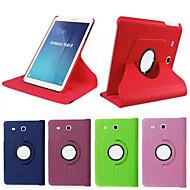 Için Samsung Galaxy Kılıf Satandlı / Flip / 360° Dönüş Pouzdro Tam Kaplama Pouzdro Solid Renkli PU Deri SamsungTab 4 10.1 / Tab 4 8.0 /