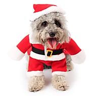 Kočka Pes Kostýmy Kombinéza Vánoce Oblečení pro psy Roztomilý cosplay Vánoce Komiks Červená Kostým Pro domácí mazlíčky
