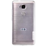 billiga Mobil cases & Skärmskydd-fodral Till Huawei Huawei Honor 5X Huawei-fodral Ultratunt Genomskinlig Skal Ensfärgat Mjukt TPU för Huawei Honor 5X Huawei