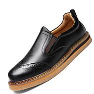 Homme Chaussures Cuir Printemps Eté Automne Hiver Confort Mocassins et Chaussons+D6148 Lacet Pour Décontracté Noir Brun claire Brun Foncé