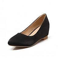 Dame-Silke-Kilehæl-Komfort Original-Flate sko-Friluft Kontor og arbeid Fritid-Svart Blå Rød Beige