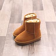 Para Meninas sapatos Couro Inverno Conforto Botas de Neve Botas Para Casual Preto Vermelho Azul Camel Castanho Escuro