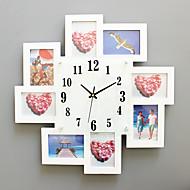 Moderne / Nutidig Huse Wall Clock,Kvadrat Glass / Tre 52*52cm Innendørs Klokke