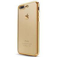 billiga Mobil cases & Skärmskydd-fodral Till Apple iPhone X / iPhone 8 / iPhone 7 Plätering / Genomskinlig Skal Enfärgad Mjukt TPU för iPhone X / iPhone 8 Plus / iPhone 8