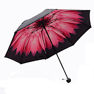 Vaaleanpunainen Taitettava sateenvarjo Auringonvarjo Plastic Rattaat