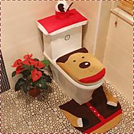 tampa de assento de flanela qualidade&tapete pé tanque de água almofada conjunto de toalha de banho de cobertura ornamento se Natal