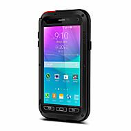 お買い得  携帯電話ケース-ケース 用途 Samsung Galaxy 水/汚れ/ショックプルーフ フルボディーケース 純色 ハード メタル のために Note 5 Note 4