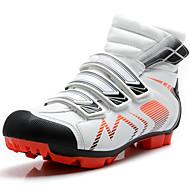 baratos Sapatos Masculinos-Homens Sapatos Microfibra Primavera Verão Outono Inverno Conforto Tênis Ciclismo Sem Salto para Atlético Ao ar livre Branco Preto