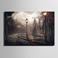 LED-canvaskunst Landschap Europese Stijl,Eén paneel Canvas Horizontaal Print Art wall Decor For Huisdecoratie