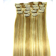 8pcs / set 24 inch # 18/613 remy human hair extensions haarverlenging soort human hair extensions