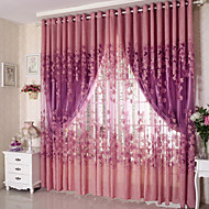 Propp Topp Et panel Window Treatment Land Stue Polyester Materiale Gardiner Skygge Hjem Dekor For Vindu