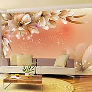 Virágos Wallpaper Otthoni Kortárs Falburkolat , Vinil Anyag ragasztószükséglet Falfestmény , szoba Falburkoló
