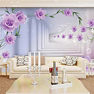 JAMMORY 3D Wallpaper For Home Contemporary Wall Covering Canvas Material Purple Rose BackgroundXL XXL XXXL