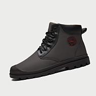 Herre-PU-Flat hæl-Komfort-Støvler-Fritid-Blå Grå