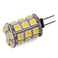 3 W 300 lm G4 LED-lamper med G-sokkel 24 LED perler SMD 5050 Mulighet for demping / Dekorativ Varm hvit / Kjølig hvit 12 V / 1 stk. / RoHs